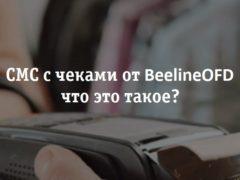 BeelineOFD – что это за чек, как отключить смс